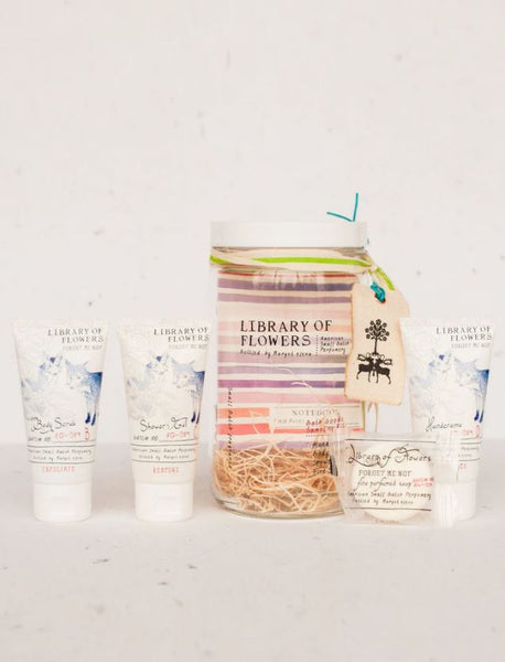 Library of Flowers Forget Me Not Bath Goods Sampling Kit