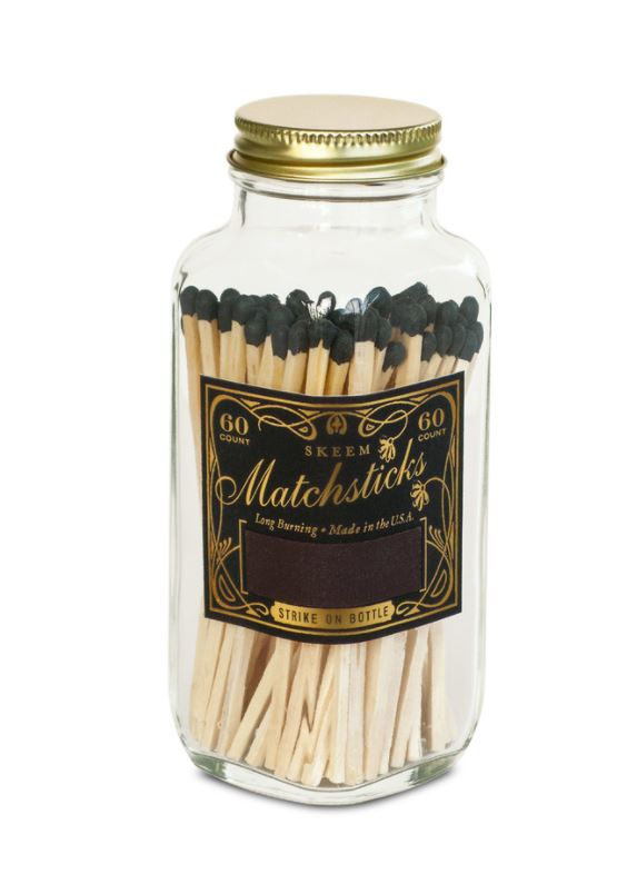 Vintage Match Bottle - Black