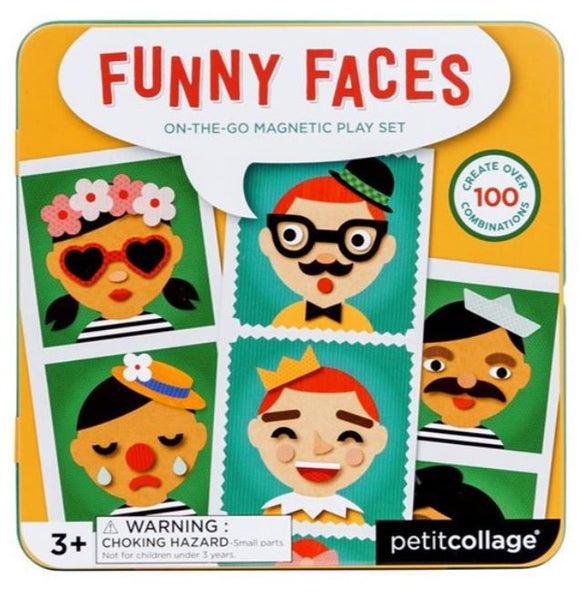 Petit Collage Funny Faces Magnetic Play Set