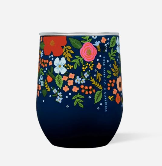 Rifle Paper Co. Stemless Navy Wild Rose