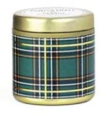 Travel Tin Candle Tartan Pomegranate & Spruce