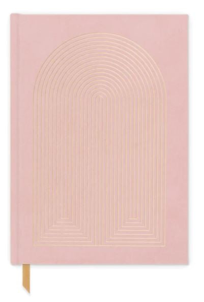Hard Cover Suede Cloth Journal With Pocket | Radiant Rainbow