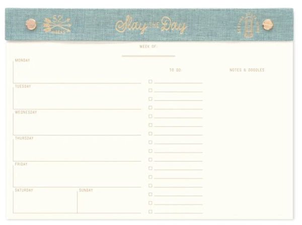 Weekly Desk Planner | Slay The Day