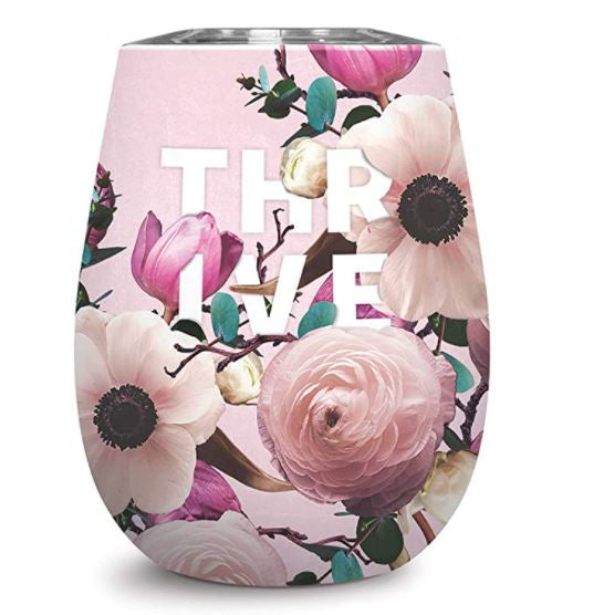 Insulated Stainless Steel Stemless Wine Cup - Thrive