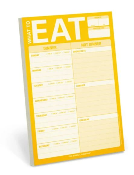 What to Eat Pad (Yellow)