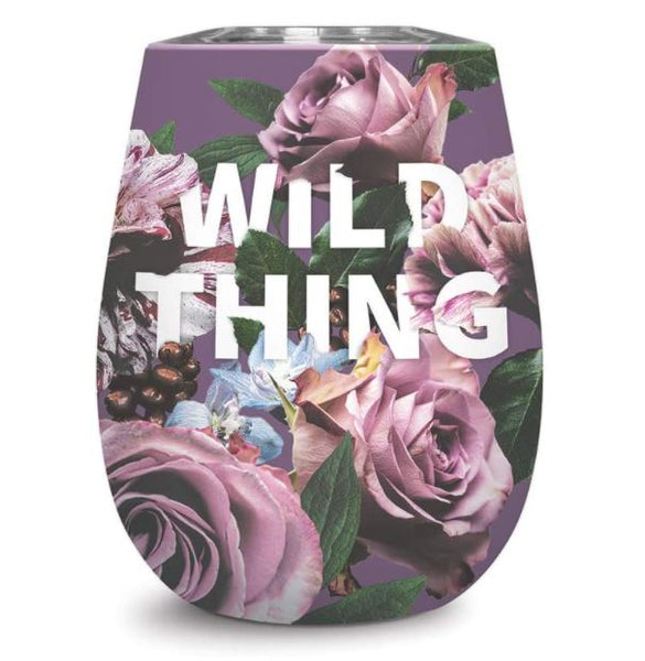 Insulated Stainless Steel Stemless Wine Cup - Wild Things