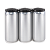 Crowler Beverage Cans with Black PakTech 3Pak Can Handle
