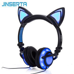 Cat Ear Flashing Glowing Headset Gaming Earphones