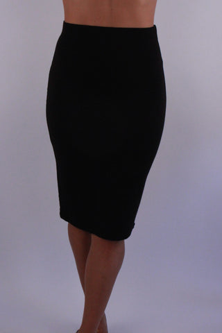 BLACK STRETCH SKIRT