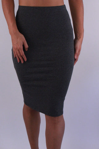 GREY STRETCH SKIRT