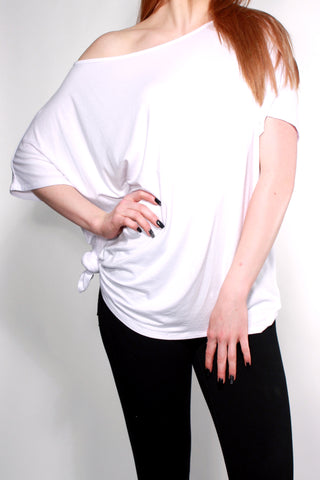 WHITE OVER-SIZED TEE