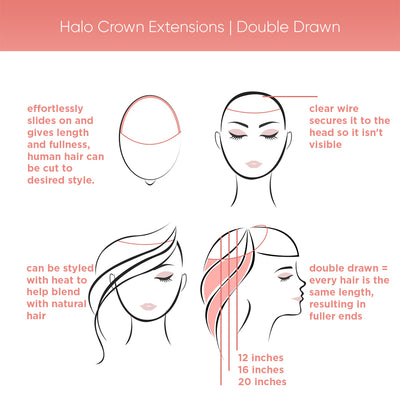 Halo Crown Extensions | Double Drawn