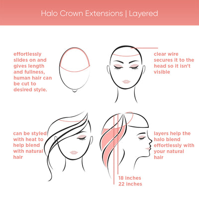Halo Crown Extensions | Layered