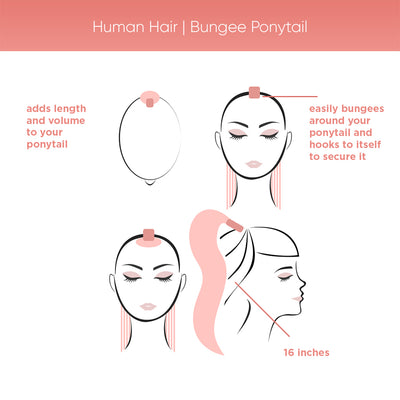 Human Hair | Bungee Ponytail