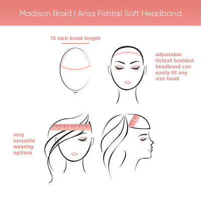 Madison Braid | Arisa Fishtail Soft Headband