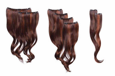 "Clip-In Extensions - Synthetic - 18"" 8 Piece Wavy Extension Kit By Hairdo"