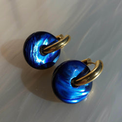 Candy Earrings in Blue sea Pearl