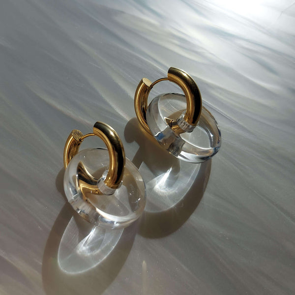 Candy Earrings in Clear Lucite