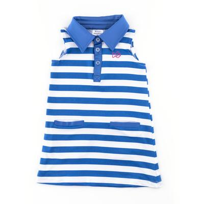 REGATTA BLUE STRIPE PERFORM DRESS (7753RGB)