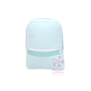 MINT-SEERSUCKER BACKPACK