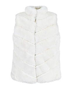 ZIP UP VEST VANILLA (003906)
