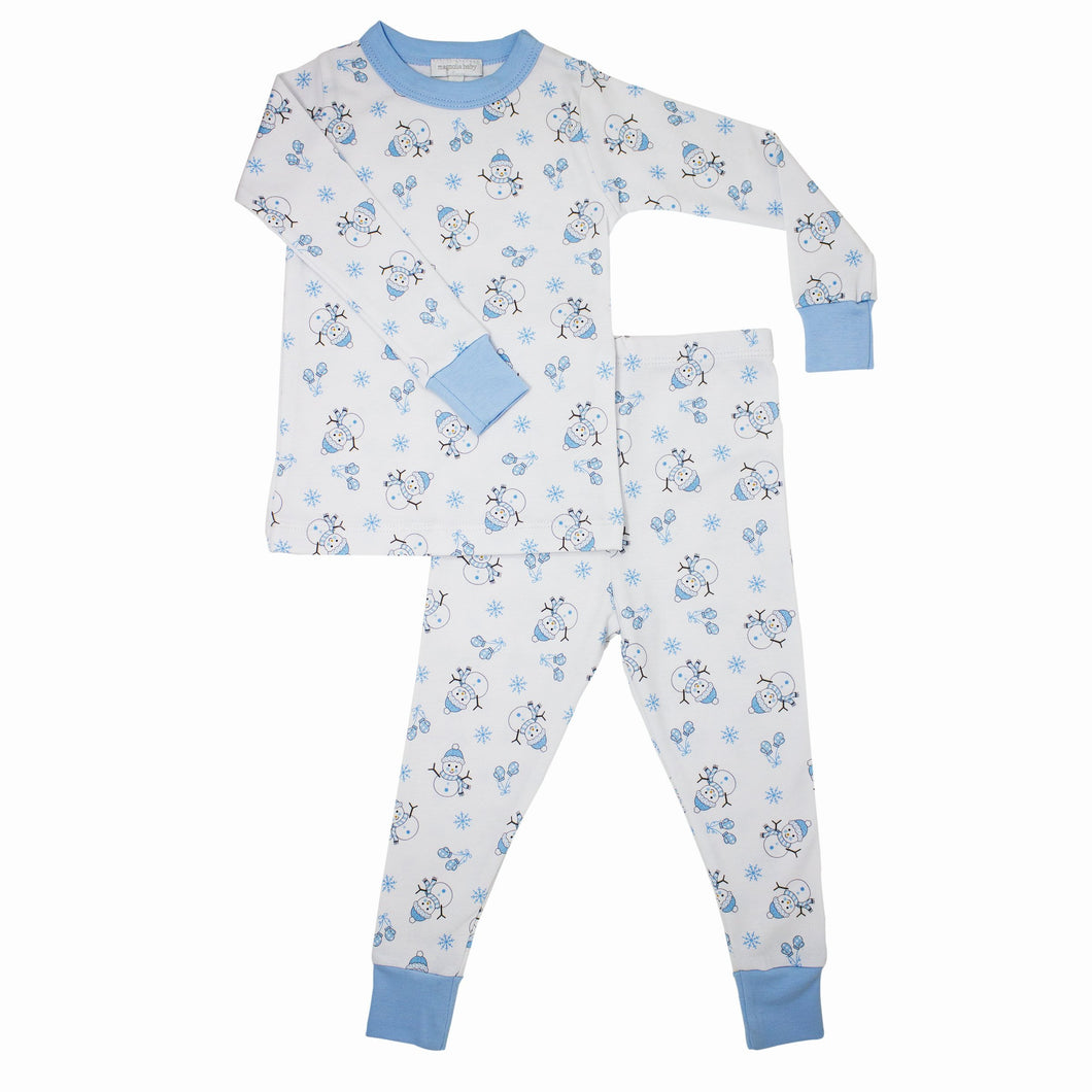 TINY SNOWMEN LONG PAJAMAS (646-LP)