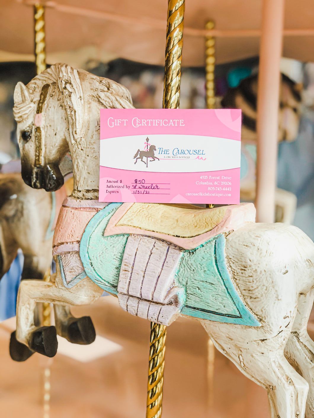 The Carousel Boutique Gift Card