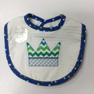 3 MARTHAS - BLUE CROWN BIB