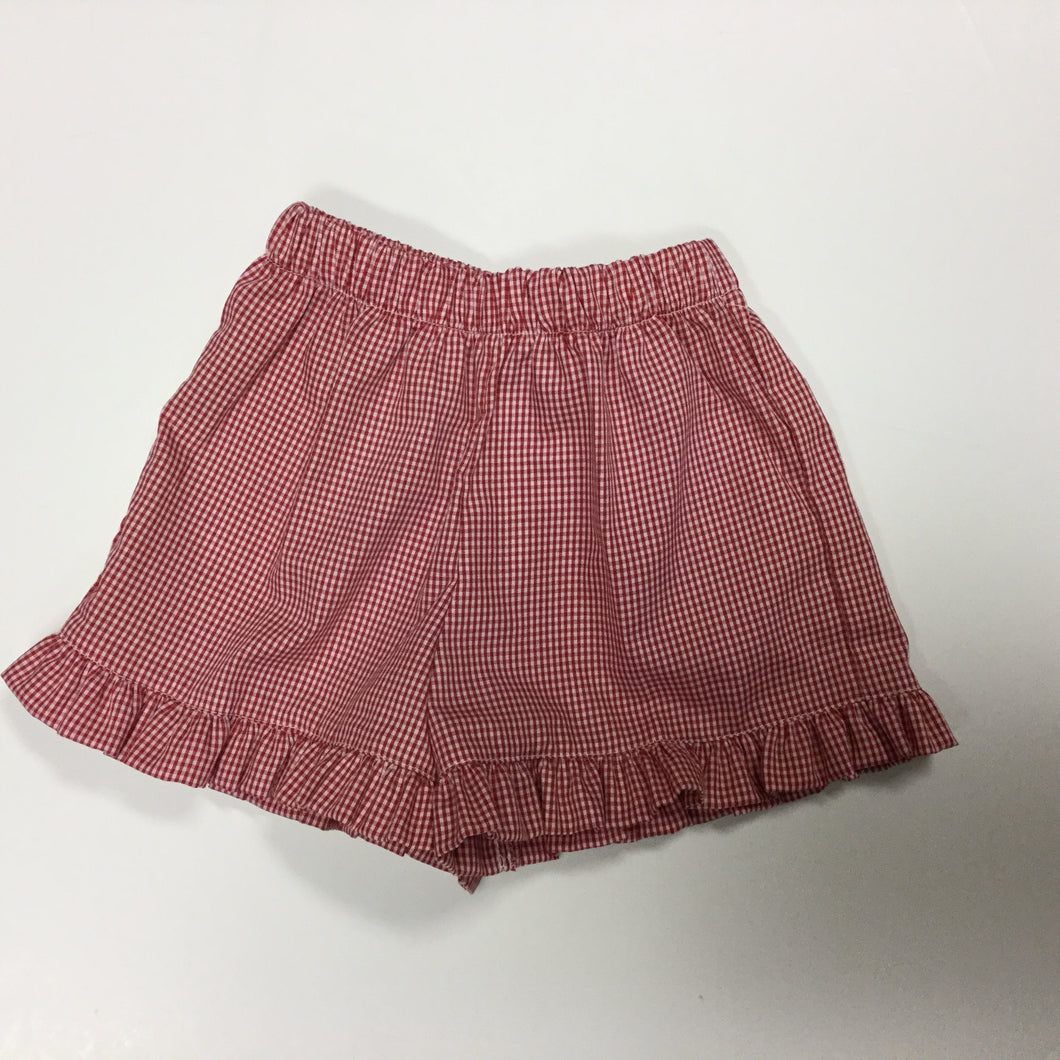 LULU BEBE- ADELE  RED GINGHAM SHORT
