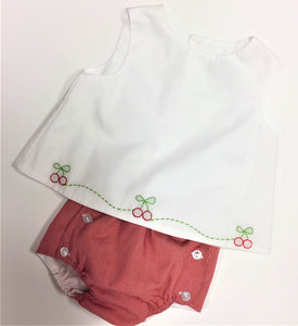 CARRIAGE BOUTIQUE- CHERRY DIAPER SET