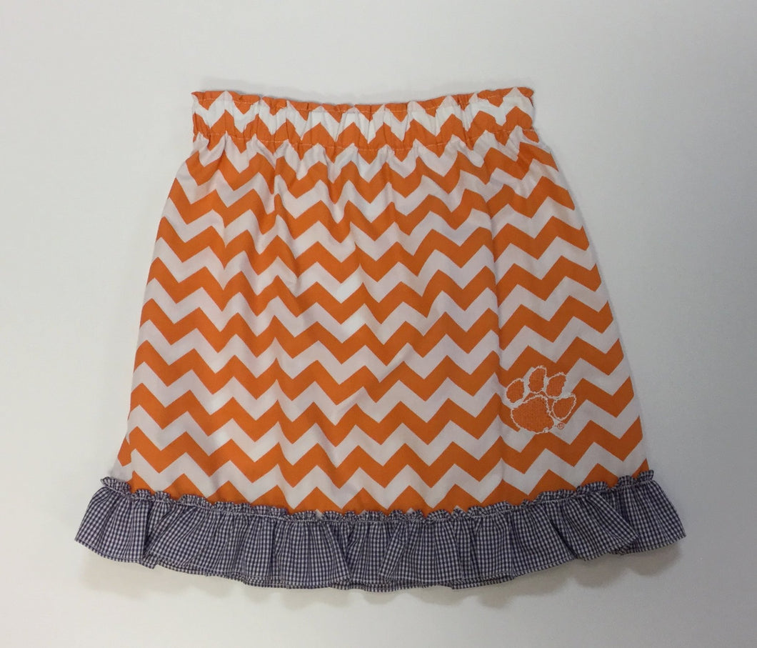 CLEMSON CHEVRON SKIRT  (006926)
