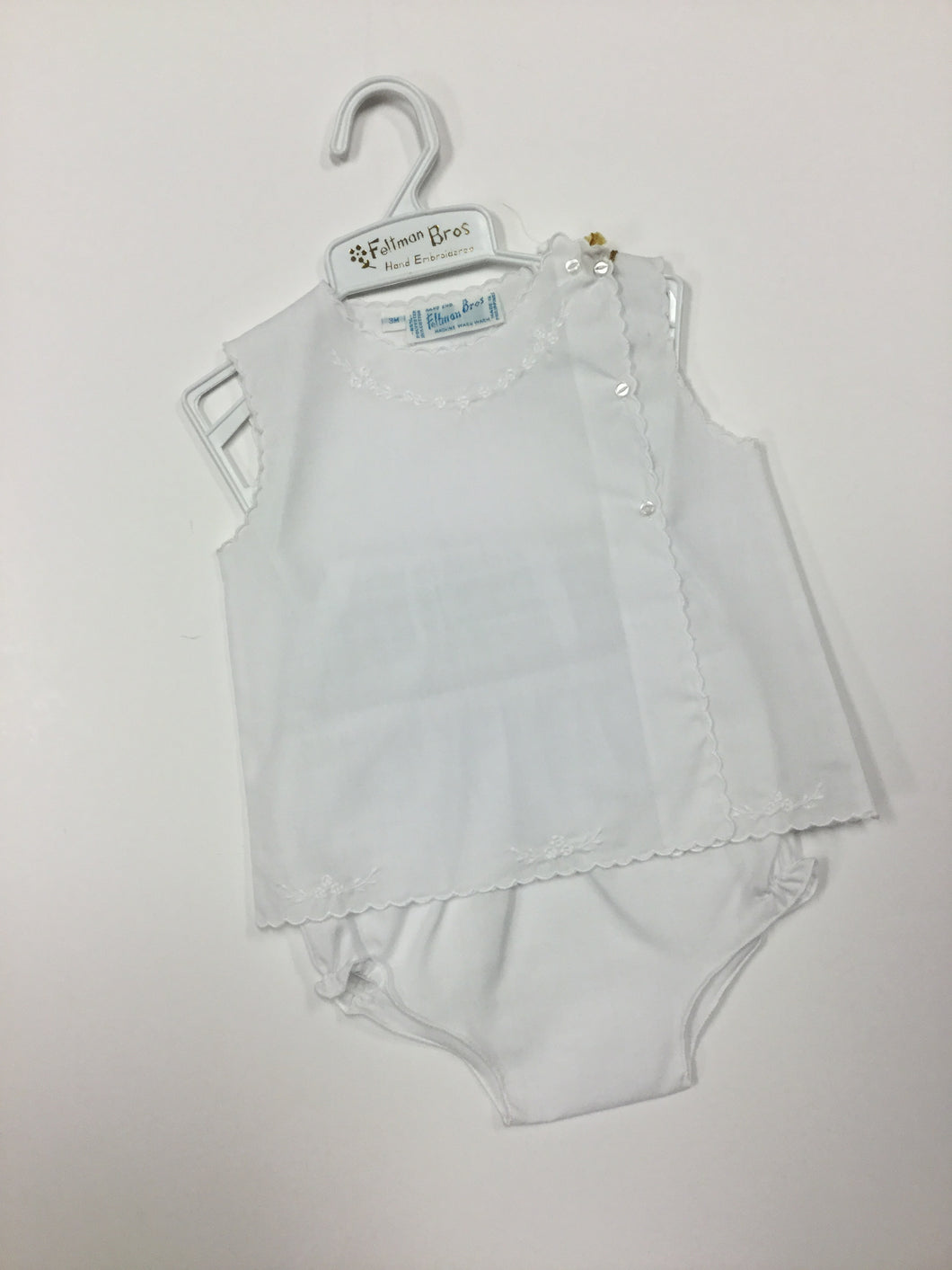 Diaper Set Floral W Scallop (016782)
