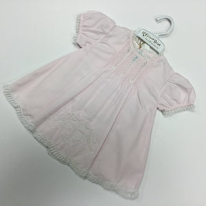 DRESS AND SLIP WITH PINKTUCKS  (012023)