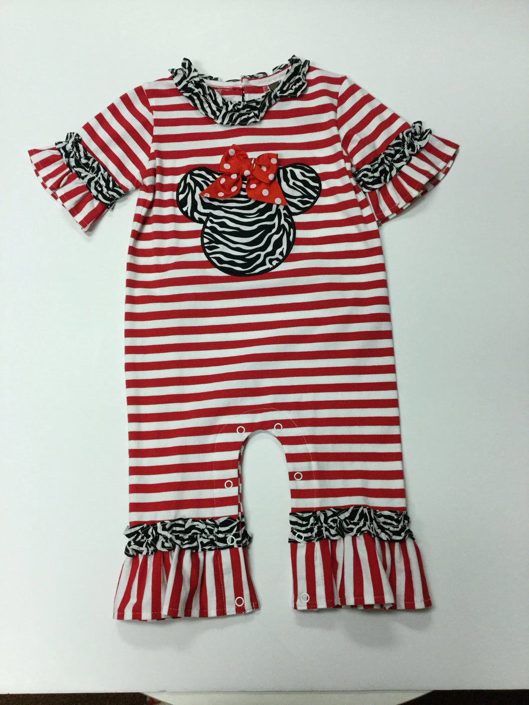 MOUSE GIRL APPLIQUE ROMPER (017591)