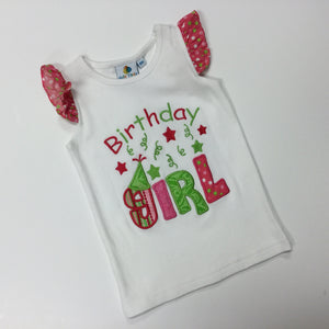 POLKA DOT RUFFLE BIRTHDAY GIRL (021172)