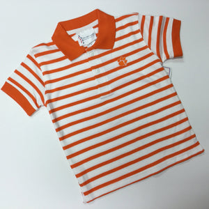 CLEMSON STRIPE GOLF SHIRT (009719)