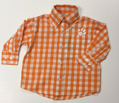 CLEMSON BIG CHECK BUTTON DOWN SHIRT (NCU02KESHL)