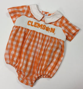 CLEMSON SMOCKED BOYS BUBBLE (NCU05B0S)