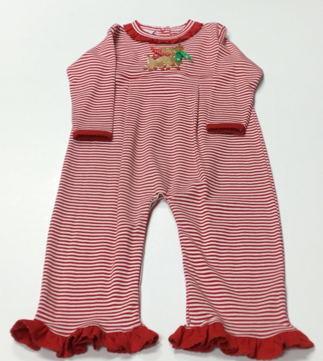 REINDEER COVERALL WITH RUFFLES (023244)