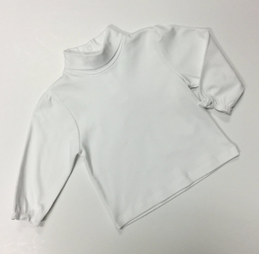 TURTLENECK WITH RUFFLE SLEEVE (023009)