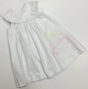 SOPHIE AND LUCAS WHITE BIRTHDAY DRESS PINK THREAD