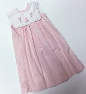 PINK BIRTHDAY CAKE & BALLOON EMB. DRESS (000930)