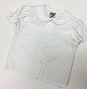 WHITE GIRLS S/S BLOUSE (110-PSG)