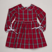 SANDRA RED TARTAN DRESS (SANDRA)