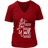 Micah 6:8 V-neck - Women's