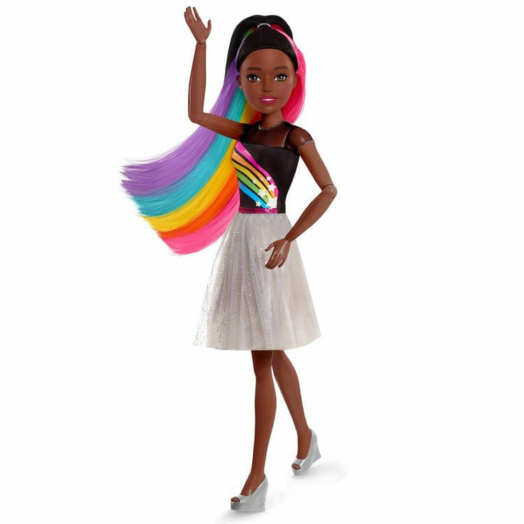 Awesome Barbie Rainbow Sparkle Hair Doll With Accessories wallpapers to download for free greenvirals
