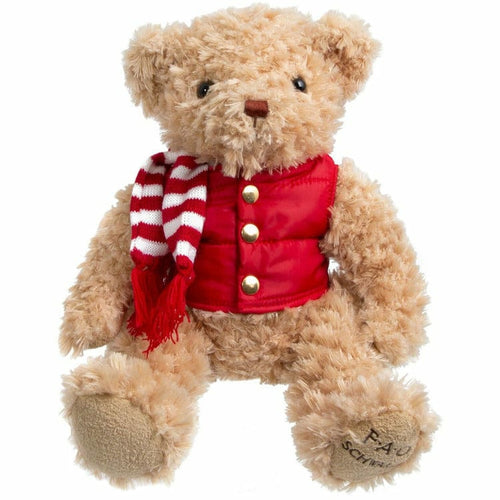 12 Inch Plush Bear With Puffer Vest