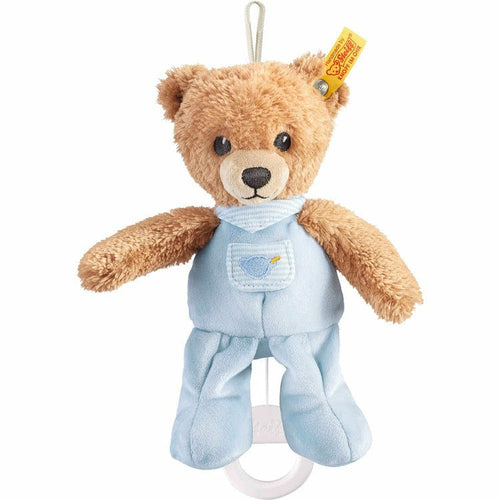 Sleep well bear music box, blue, 8 Inches