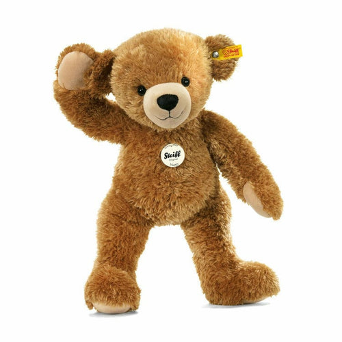 Happy Teddy bear, light brown, 11 Inches
