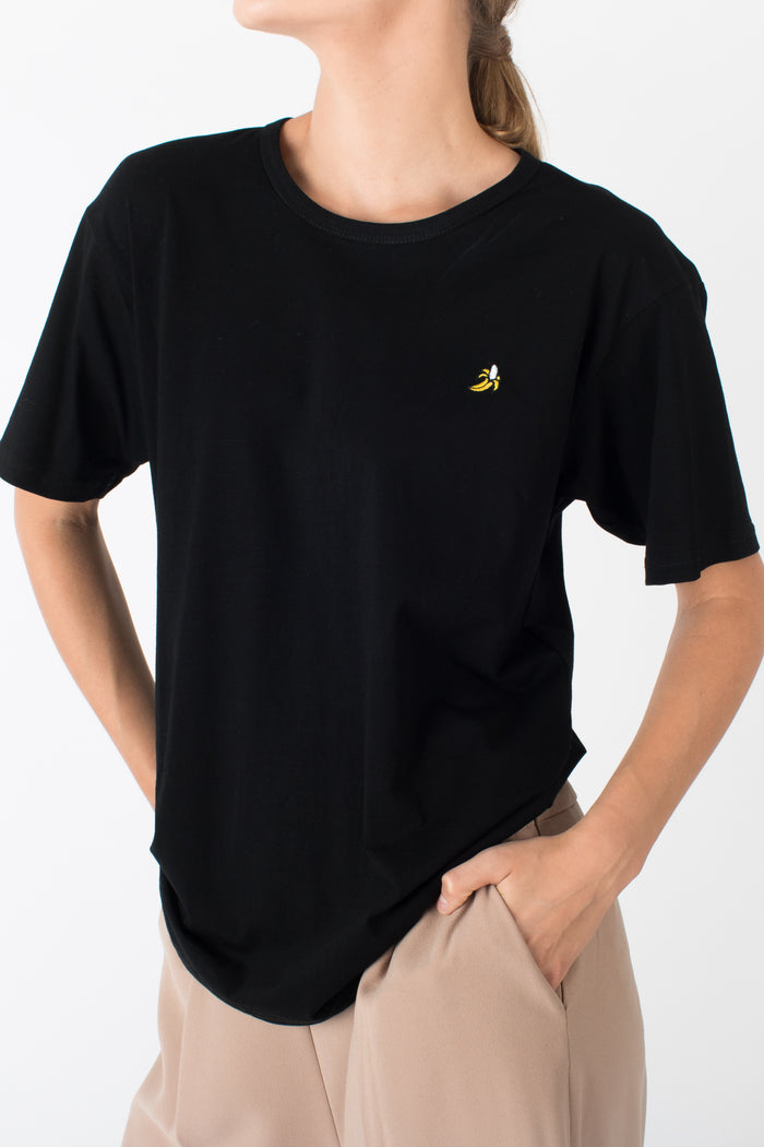 James Logo T-Shirt Banana Black
